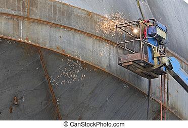 chantier naval, soudeur