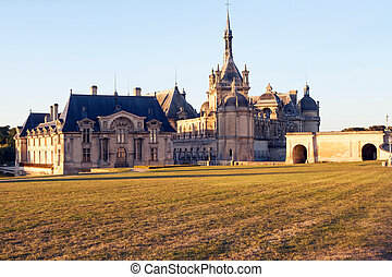 Chantilly castle museum - View of Chantilly castle and...