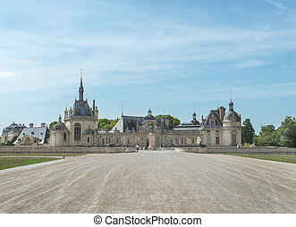 Chantilly chateau - Partial view of chantilly castle