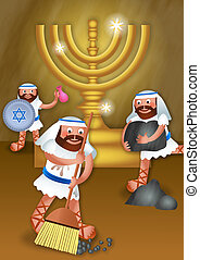 Chanukah and the Maccabees - A digitally created cartoon ...
