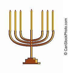 Chanukah Symbol Vector Illustration Design