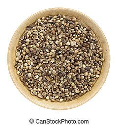 chanvre, graines, entier