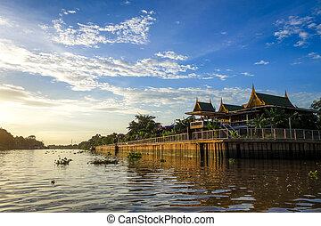 Chao Phraya River, Ayutthaya, Thailand