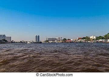 chao, phraya, river.