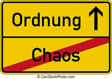 Order chaos shows organized or unorganized. Order chaos ...