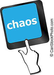 chaos keys on computer keyboard, business concept