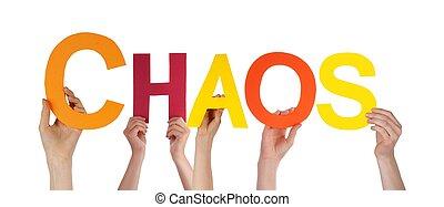 chaos, vasthouden, mensen