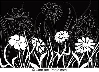 chaos, vector, floral