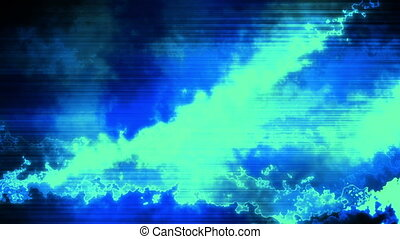 Chaotic blue energy looping abstract animated background -...
