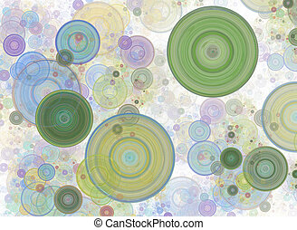 Chaotic colorful circles, confetti. Abstract holiday background. Fantastic 3D rendered geometric digital fractal illustration. Digital art.