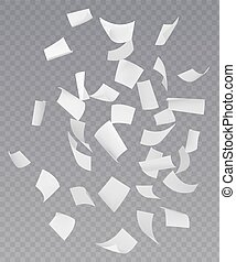 Chaotic Falling Flying Paper Sheets