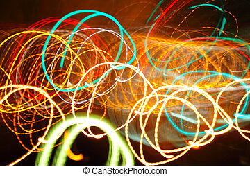 Chaotic lights background - Chaotic lights in moriol blur...