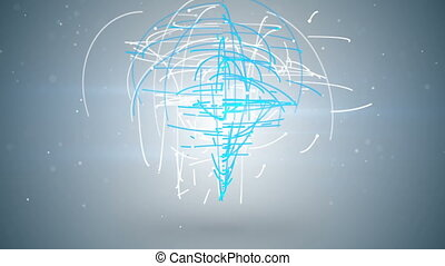chaotic moving particles abstract loopable animation -...