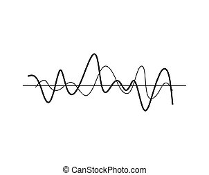 Chaotic Wavy Lines Icon Vector Illustration - Chaotic wavy...