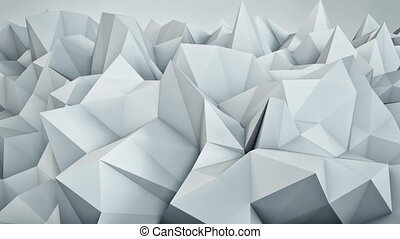 Chaotic white surface loopable 3D rendering - Chaotic white...