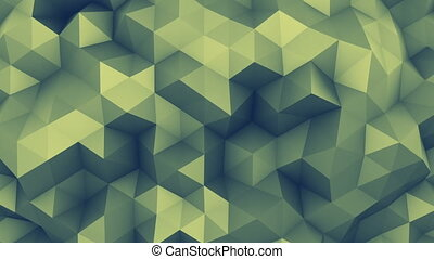 chaotique, surface, polygonal, rendre, loopable, 3d