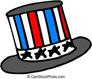 chapéu, americano, patriótico