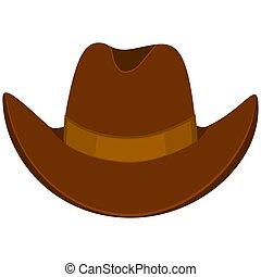 chapéu, caricatura, coloridos, boiadeiro