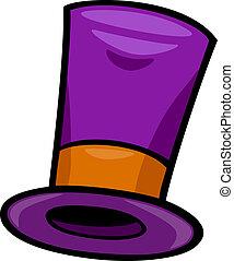 chapéu, corte arte, caricatura, ilustração