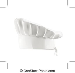chapéu, cozinheiro, branca