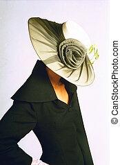 chapéu, e, ombros