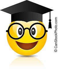 chapéu, graduação, emoji, nerd