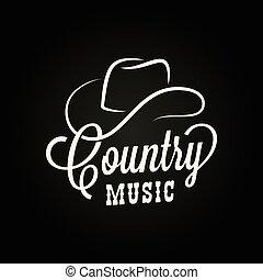 chapéu, música rural, sinal., boiadeiro