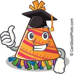 chapéu, partido, caricatura, graduação