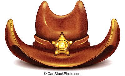 chapéu, xerife