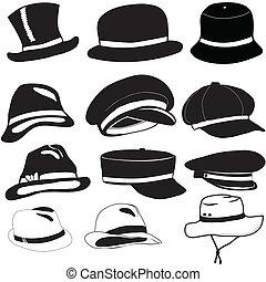 chapéus, bonés