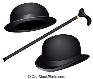 chapéus, cana, dois