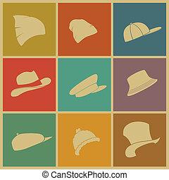 chapéus, coloridos