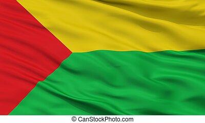 Chaparral City Flag, Colombia, Tolima Department, Closeup...