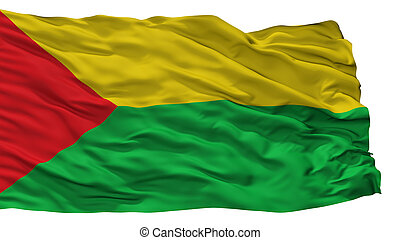 Chaparral City Flag, Colombia, Tolima Department, Isolated...