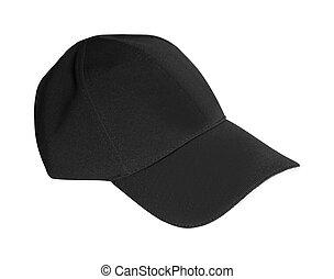 chapeau, blanc, base-ball, isolé, fond