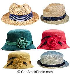 chapeau blanc, isolé, anglaise