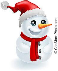 chapeau bonhomme neige, noël, santa