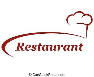 chapeau chef, fond, restaurant