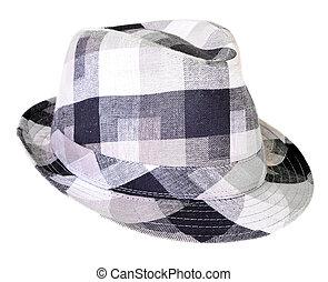 chapeau, gris