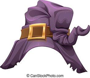chapeau, halloween, sorcières, accessoire