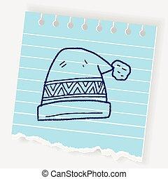 chapeau hiver, griffonnage