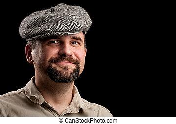 chapeau, jeune homme