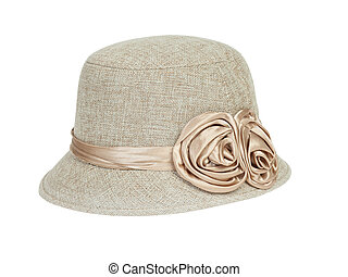 chapeau, mode, dame