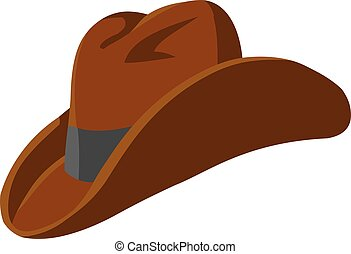 chapeau, occidental, cow-boy