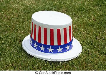 chapeau patriotique