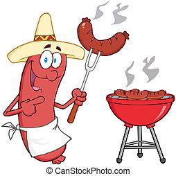 chapeau, saucisse, mexicain