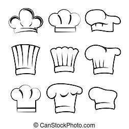 chapeaux, chef cuistot