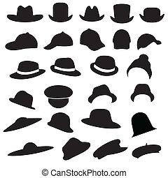 chapeaux, silhouette