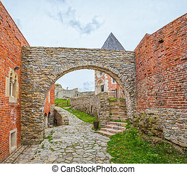 Chapel and walls on Medvedgrad castle in Zagreb, Croatia