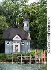 Chapel at lake Chiemsee in Bavaria, Germany